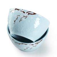 佳佰 碗樱花语系列6英寸露珠韩尚陶瓷碗套装2件套(蓝)