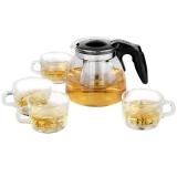 紫丁香 900ML耐熱茶壺套裝小怡然茶具五件套S388