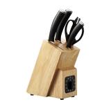 佳佰 刀具套装菜刀水果刀多用刀剪刀刀座5件套JBDJ-DPT5