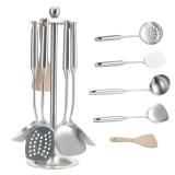 欧橡OAK 304不锈钢厨具套装 厨房用具组合套 含锅铲子汤勺漏勺厨具五件套 C066