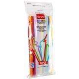 宜洁 一次性多变吸管餐具卫生艺术吸管50只装Y-9913