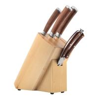 佳佰厨房刀具套装花梨木柄系列不锈钢刀具5件套 含菜刀 厨师刀 水果刀  剪刀JH17B35