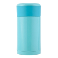 佳佰 750ml 不銹鋼真空燜燒杯 燜燒壺  燜燒罐 粥桶 兒童保溫壺 天藍色(內含勺子和便攜袋) JDTH-750-6