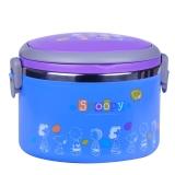 史努比Snoopy 画语不锈钢大容量保温饭盒1000ml 蓝色