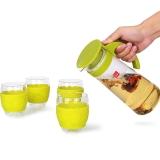 乐扣乐扣(locklock)耐热玻璃水壶茶水杯杯子五件套装(一个耐热玻璃水壶+4个玻璃水杯)LLG602S2