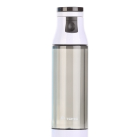 [京东下架品种]特美刻(TOMIC)玻璃杯 双层玻璃内胆 炫彩水杯子 1BSB9506 灰色