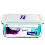 三光云彩glasslock韩国进口钢化玻璃饭盒微波炉碗保鲜盒密封便当盒 MCRB110/1100ml