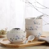 樱之歌 纯手绘雪花釉日式素瓷餐具8件套