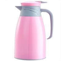 悠佳 鼎盛系列1L糖果色注塑壳保温壶暖水瓶 多功能热水瓶大容量真空办公水壶开水壶 粉红ZS-9100-H