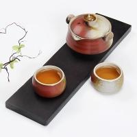 常生源  陶瓷功夫茶具套装 办公室 旅行茶具 一壶两杯 实木茶盘 精瓷彩韵套组