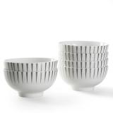 佳佰 碗流星雨系列4.5英寸唐式陶瓷碗餐具套装6件套