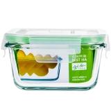 贝特阿斯(BestHA)耐热玻璃保鲜盒正方形450ml 烤箱 冰箱 微波炉适用饭盒RLF-450