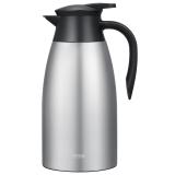 然也(RAE)大容量雙層不銹鋼保溫壺熱水瓶時尚家用辦公暖水咖啡壺2.0升本色R8021(新老款隨機發貨)