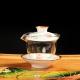 尚帝(shangdi)青花五彩手绘茶具介杯茶备耐热玻璃茶具手绘陶瓷玻璃盖碗3件 反口盖碗190ml