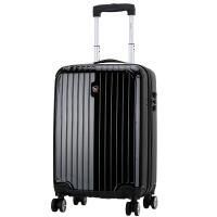 爱华仕(OIWAS)飞机轮拉杆箱6082 PC海关锁男女出差登机旅行箱 20英寸黑色行李箱