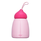 物生物/RELEA 260ML可可保溫杯 便攜情侶可愛真空內膽不銹鋼保溫水杯子 JV0502013 蜜桃粉