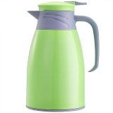 悠佳 鼎盛系列1L糖果色注塑壳保温壶暖水瓶 多功能热水瓶大容量真空办公水壶开水壶 粉绿ZS-9100-G