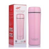 富光 经典简约奥氏体304不锈钢保温杯 420ml 粉色