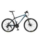 永久27速自行车山地车 双碟刹/轴承中轴/铝合金车圈/男女士单车 T11 黑蓝色
