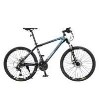 永久27速自行車山地車 雙碟剎/軸承中軸/鋁合金車圈/男女士單車 T11 黑藍色