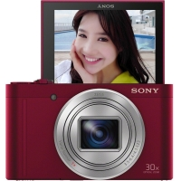 索尼(SONY) DSC-WX500 数码相机 红色(1820万?#34892;?#20687;素3英寸180度可翻转屏 30倍光学变焦 Wi-Fi分享上传)