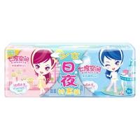 七度空间 少女系列 纯棉表层超薄型 卫生巾 日夜特惠装20片 (日用10片+夜用10片装)