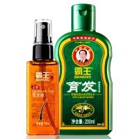霸王(BAWANG)育发防脱洗发液200ml+育发液55ml(防脱发洗发水套装 增发密发洗发露)