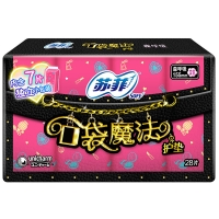 苏菲口袋魔法美妆心情芳香感护垫155mm28P(新老包装加量装随机发货)