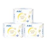 ABC 纤薄 棉柔 日用 卫生巾 3包 240mm*8片/包(新旧包装随机发货)