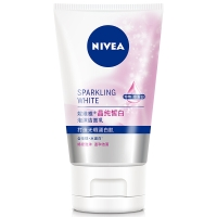 妮维雅(NIVEA)晶纯皙白泡沫洁面乳100g(洗面奶 温和洁面)