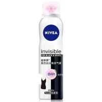 妮维雅(NIVEA)黑白出众爽身气雾 150ml(女士爽身气雾 干爽舒适 腋下脱毛修护)