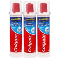 高露洁(Colgate) 卓效防蛀 牙膏 130g×3(直立式,全新升级欧洲进口)
