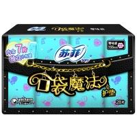 苏菲口袋魔法美妆心情零味感护垫155mm 28P(新老包装加量装随机发货)