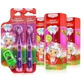 高露洁(Colgate) 妙妙刷2-5岁儿童牙膏牙刷套装(草莓味牙膏 40g×3+妙妙刷牙刷×2)