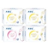 ABC棉柔超吸防侧漏卫生巾组合4包(日24片+夜8片 新旧包装随机发货)