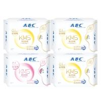 ABC超极薄纯棉透气卫生巾组合4包(日24片+夜8片 新旧包装随机发货)