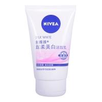 妮维雅(NIVEA)丝柔美白洁面乳100g(洗面奶女  温和洁面 补水保湿 化妆品)