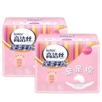 高潔絲 Kotex 親親棉衛生巾日用240mm18片*2包裝 經典棉柔絲薄系列 柔軟升級