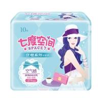 七度空间(SPACE7) 优雅系列卫生巾 丝柔表层超薄夜用275mm*10片(新老包装随机发货)
