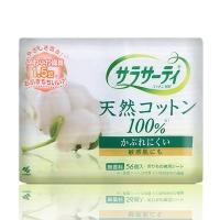 小林制药(KOBAYASHI) Sarasaty 纯棉透气卫生巾 无香料 15cm 56片(日本原装进口)