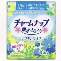 【日本原装进口】尤妮佳(Unicharm)苏菲瞬间吸收干爽少量用超薄护垫 18片