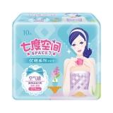 七度空间(SPACE7) 优雅系列卫生巾 净爽网面超薄夜用275mm*10片(新老包装随机发货)