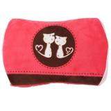 尚格兰 时尚暖手宝 可拆洗暖宝宝冲电热水袋注水电暖宝防爆暖水袋(猫咪款 红色)