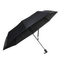 obolts双层折叠遮阳太阳伞小黑伞超强防晒防紫外线三折黑胶晴雨两用女士
