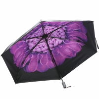 天堂伞 (UPF50+)全遮光黑胶碳纤骨三折超轻太阳伞晴雨伞31809E紫色