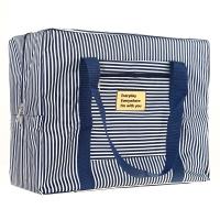京唐 旅行收纳包行李衣物整理袋牛津布防水袋 蓝色条纹(大号)