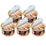 泰国进口 富力鲜(frisian) 宠物白身鲔鱼+鲑鱼猫罐头85g*24罐