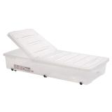 禧天龙Citylong 塑料床底收纳箱特大号透明衣物整理箱床下滑轮储物箱 透明白54L 6073