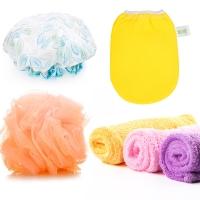 宜洁 澡巾浴花浴帽干发帽女生洗浴四件套JD-7105