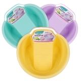 顺美 洗衣盆 婴儿宝宝洗衣盆 洗衣加厚多功能盆 带抽屉皂盒 搓衣板塑料盆 颜色随机 SM-2567